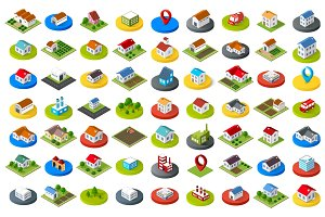 Set of city icons
