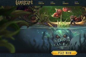 Gamescape PSD Template