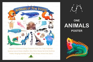 "♥ vector ""Animals of the World"""