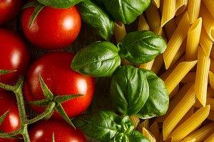 Food Pattern Italian Food Pasta