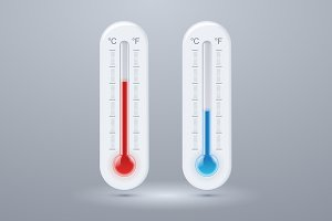 Illustration of thermometers