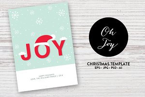 Chritmas Card Template EPS and more