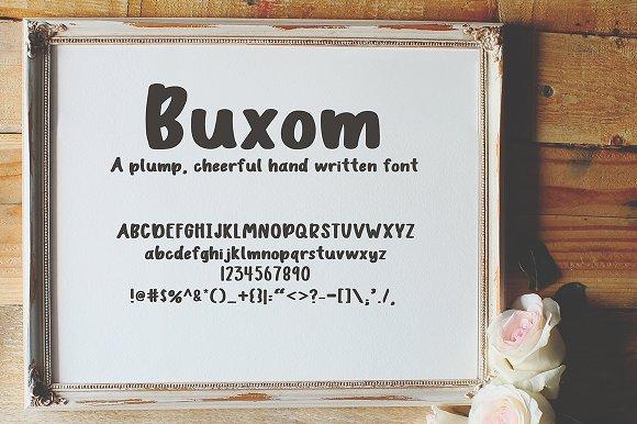 Buxom Font
