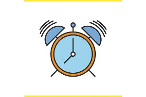 Alarm clock color icon