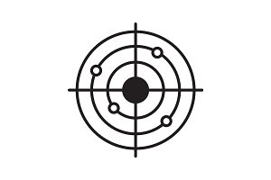 Shooting range linear icon