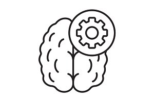 Practical mind linear icon
