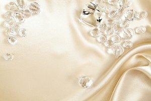 Satin Background & Crystal Ornaments