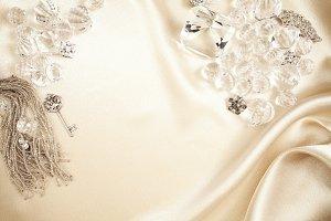 Satin background & Jewelry