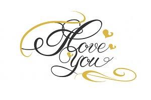 I Love You, Lettering Design