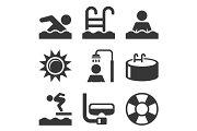 Swimming Pool Icons Set