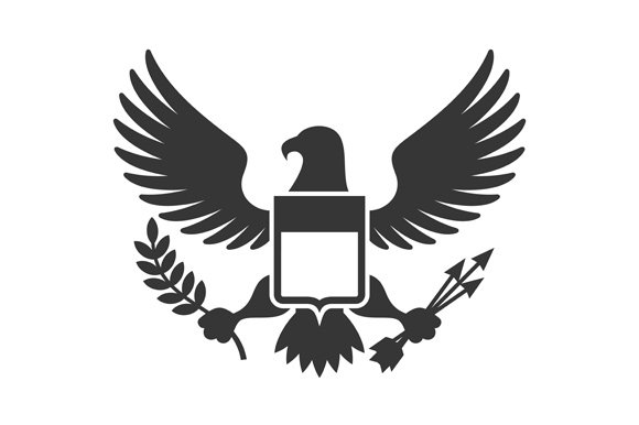 Eagle with Shield Herb Logo