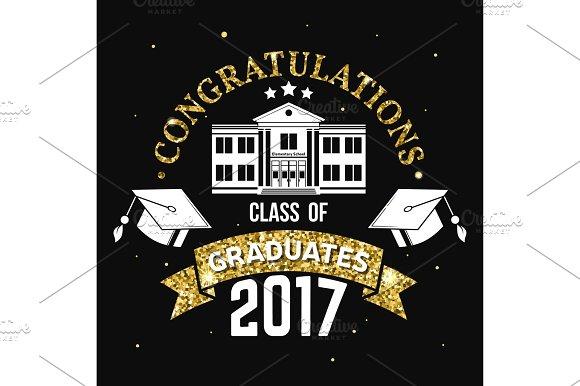 Vector Congratulations Graduates Class Of 2017 Badge