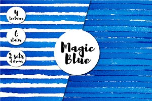 Magic Blue. Watercolor templates