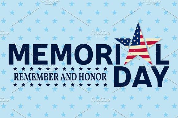 Happy Memorial Day greeting card.