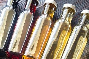 Different kinds of vinegar