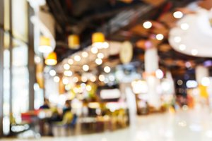 Blur people shopping