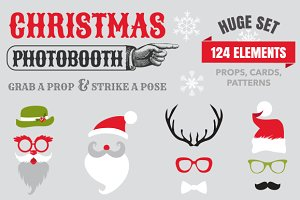 Christmas Photobooth Huge Set
