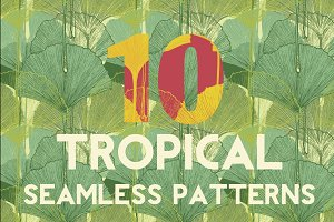 10 Tropical Seamless Pattern Set