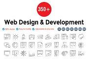 Web Design & Development hand drawn