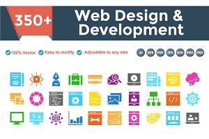 Web Design & Development multi color