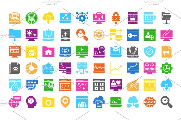 Web Design & Development multi color in Icons - product preview 1