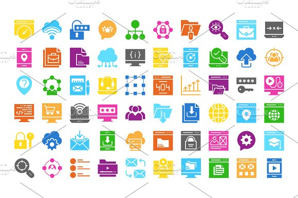 Web Design & Development multi color in Icons - product preview 2
