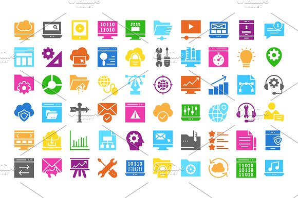 Web Design & Development multi color in Icons - product preview 3