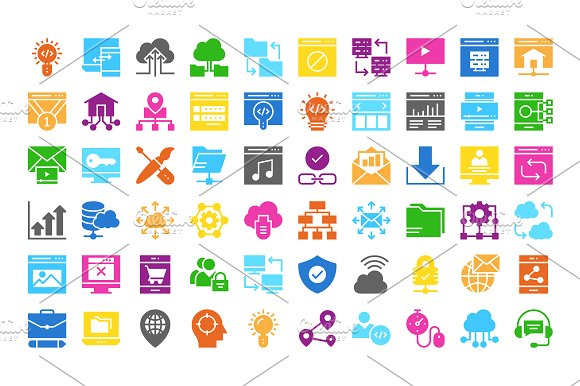 Web Design & Development multi color in Icons - product preview 4