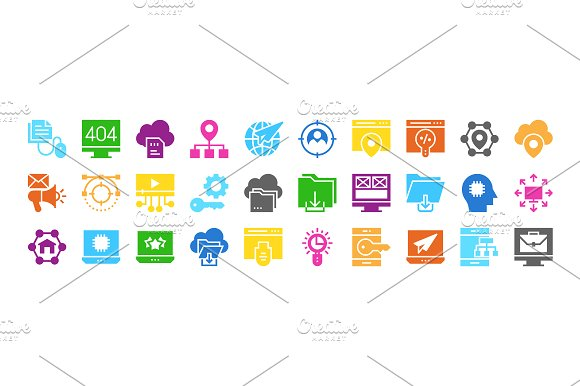 Web Design & Development multi color in Icons - product preview 5