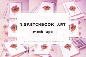 9 Sketchbook mock-ups