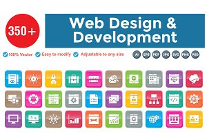 Web Design & Development Square 3D