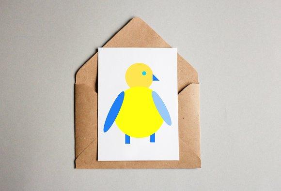 Baby Bird Art Illustration