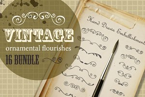 Hand Drawn flourishes Bundle