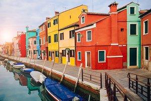Island Burano, Venice Italy.