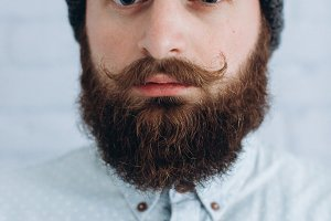 Bearded and mustache man.