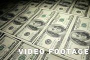 Table of money. Close-up, slider shot