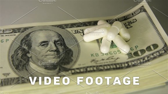 Money And Drugs Close-up Slider Shot
