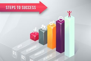 Road to Success Business Chart
