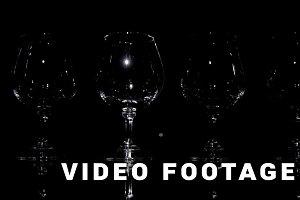 Four wineglasses. Slider light shoot