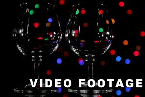 Wineglass and fast light background