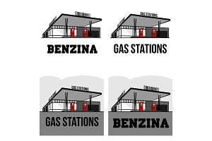 vintage gas stations