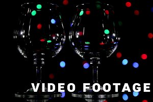 Wineglass and slow light background