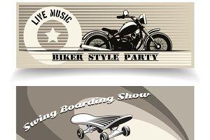 biker banners