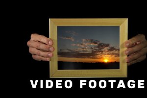 Magic sunsets in the frame. Time lapse shots