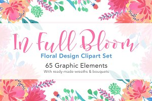In Full Bloom: Floral Design ClipArt
