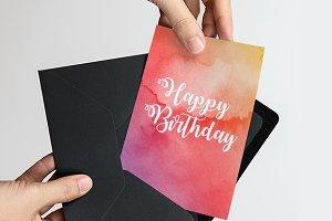 Happy Birthday Card Watercolour