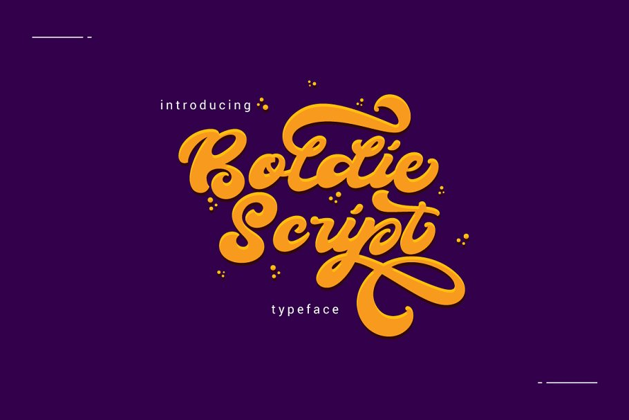 Boldie Script Typeface