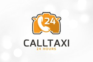 Call Taxi Logo Template Design