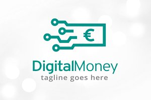 Digital Money Logo Template Design
