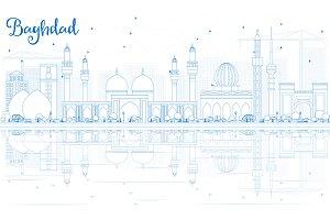 Outline Baghdad Skyline